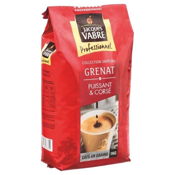 Jacques Vabre Grenat Café En Grains 1Kg