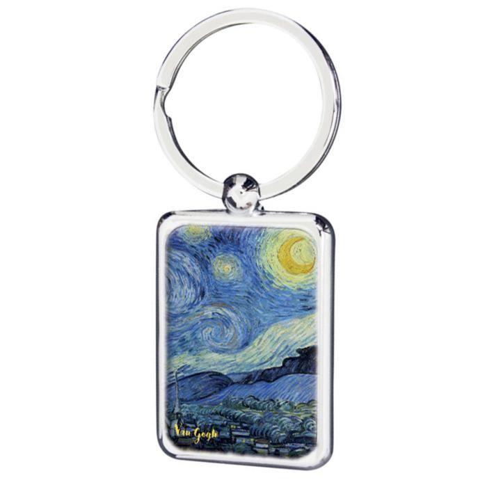 Porte-clés 'Vincent Van Gogh' (La Nuit Etoilée) - 35x25 mm [Q9266]
