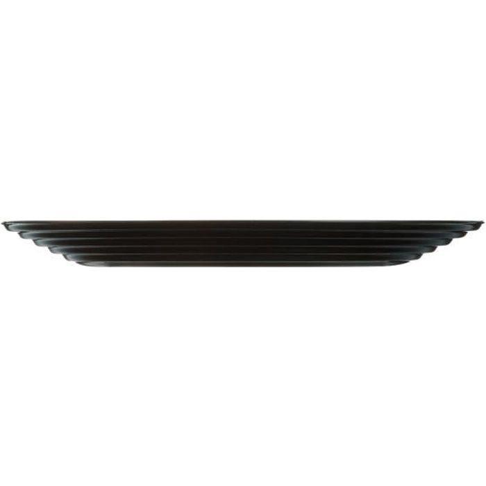 Assiette plate noire 25 cm - Harena Noir - Luminarc