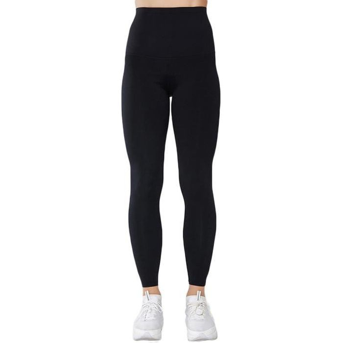 Femmes Leggings de Compression Anti-Cellulite Slim Fit Butt Lift Elastique de yoga Taille Haute Noir S