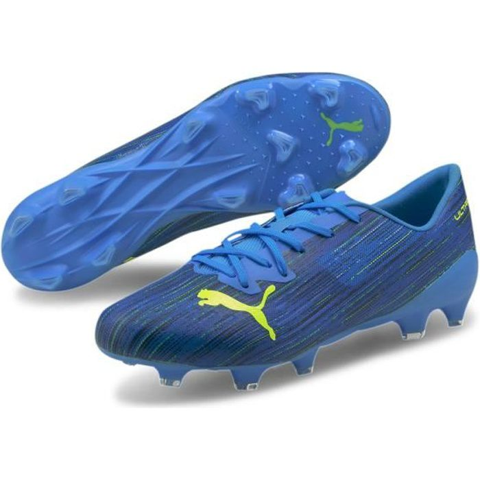Chaussures de football Puma Ultra 2.2 FG/AG - bleu chiné/jaune - 46,5