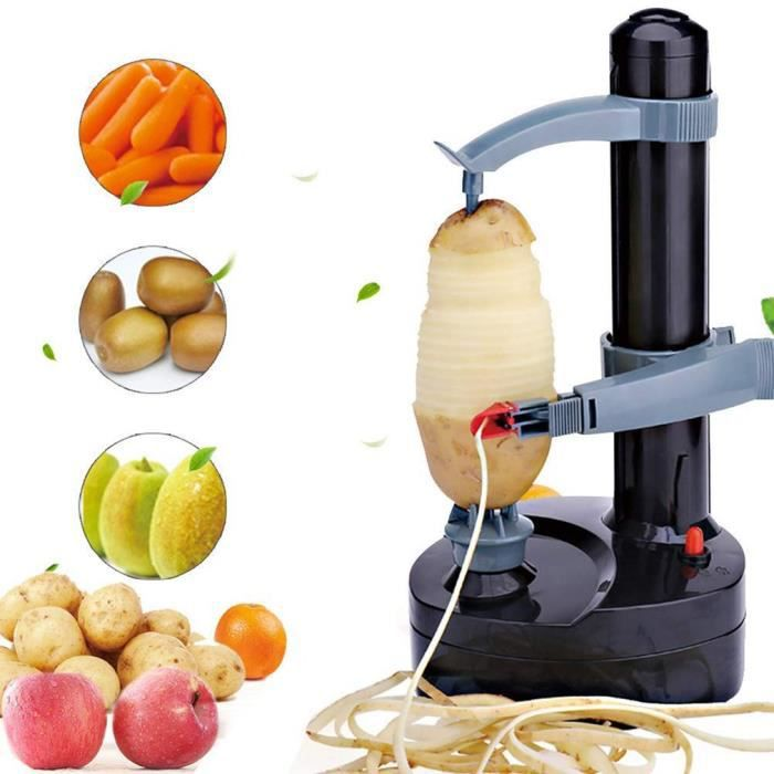 couteau-éplucheur Électrique Automatique Multifonction En Acier Inoxydable éplucheur De Fruits Coupe-Légumes