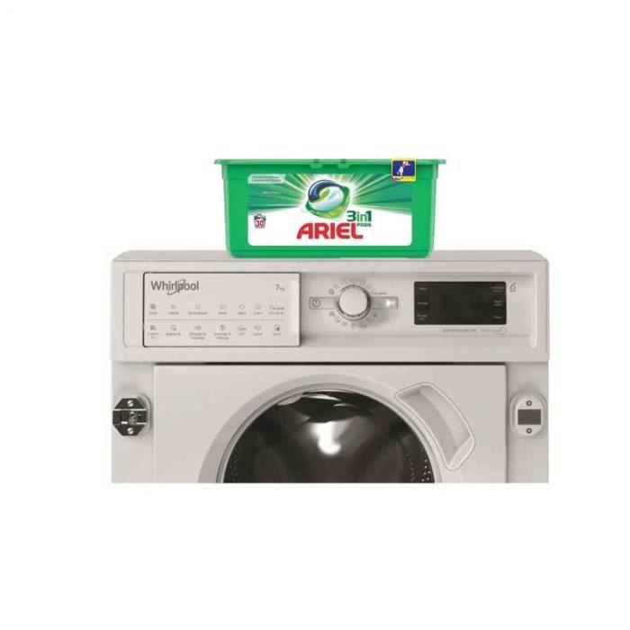 WHIRLPOOL Lave-linge tout intégrable encastrable 7KG 1400trs/min 6eme Sens Machine à laver hublot