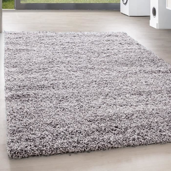 shaggy shaggy long pile pas cher tapis gris clair salon versc tailles 300x400 cm achat. Black Bedroom Furniture Sets. Home Design Ideas