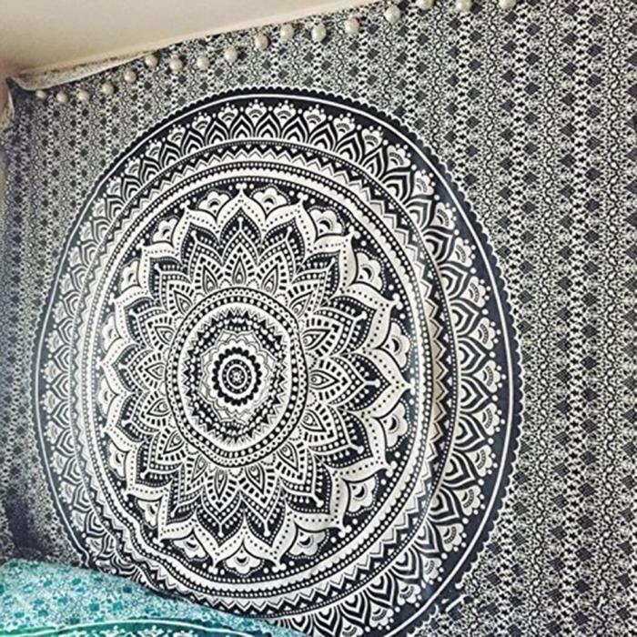 Mandala Indien Coton Tapisserie Tenture Murale Hippie Maison Décorative Collage