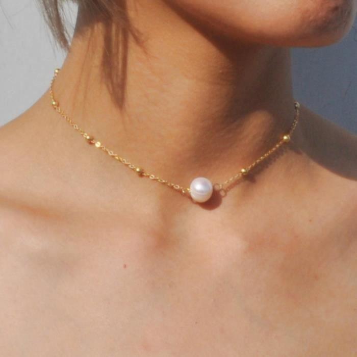 SAUTOIR ET COLLIER Collier cadeau de Noël Collier de perles simples p