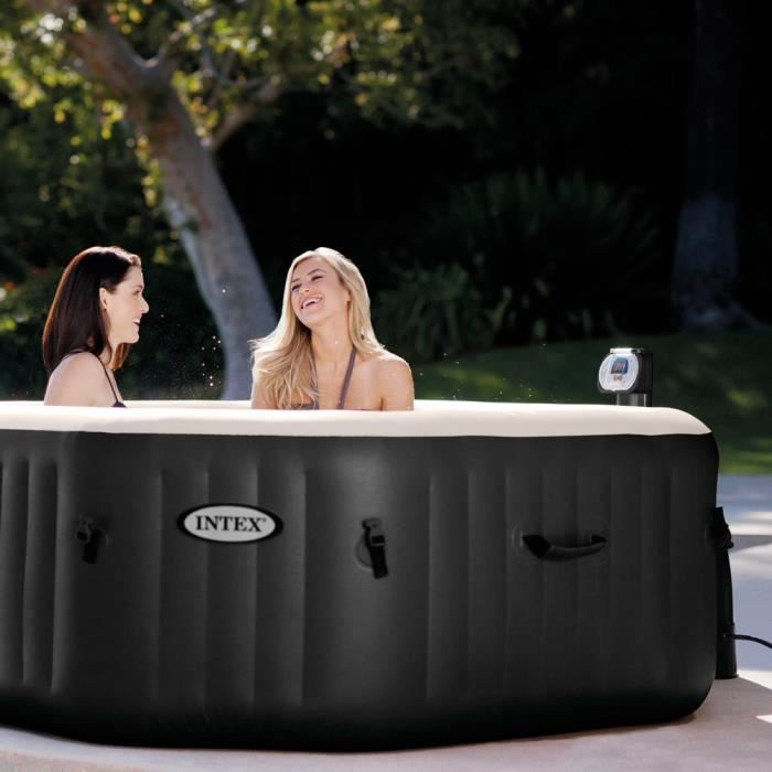 Intex 28454 spa gonflable portable exterieur octagonal jet bubble spa generat - Spa exterieur gonflable ...