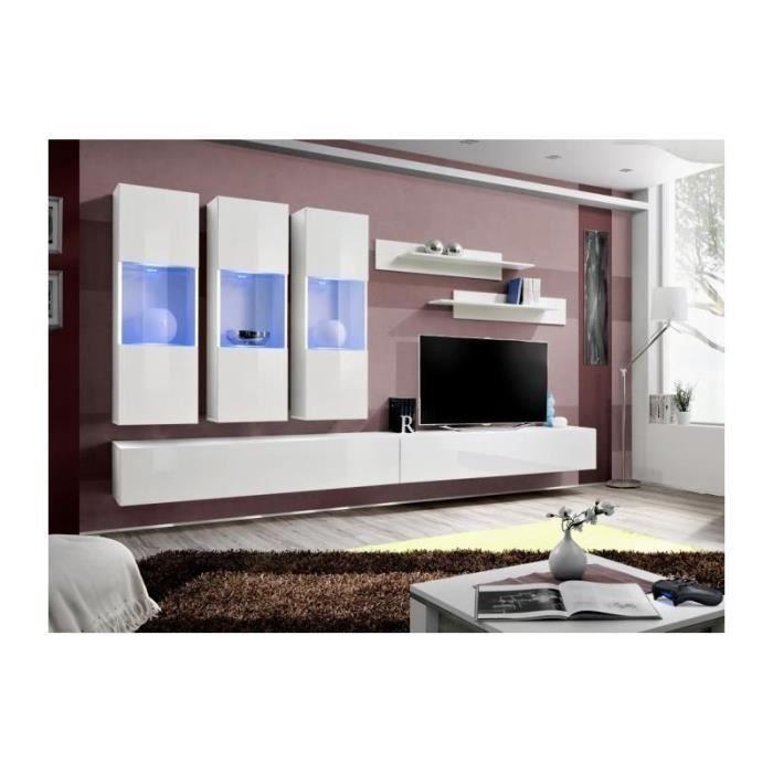 Meuble Tv Fly E2 Design Coloris Blanc Brillant Meuble Suspendu Moderne Et Tendance Pour Votre Salon Achat Vente Meuble Tv Meuble Tv Fly E2 Design Cdiscount