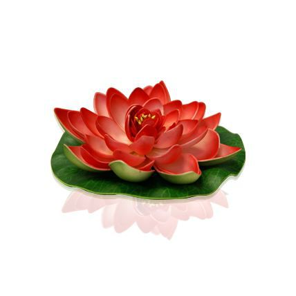 DECORATION DE TABLE FLEUR DECORATIVE LOTUS ROUGE Rouge