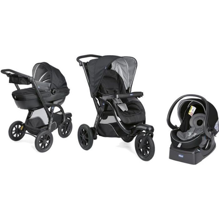 Photo de chicco-poussette-combinee-trio-activ3-top-jet-black