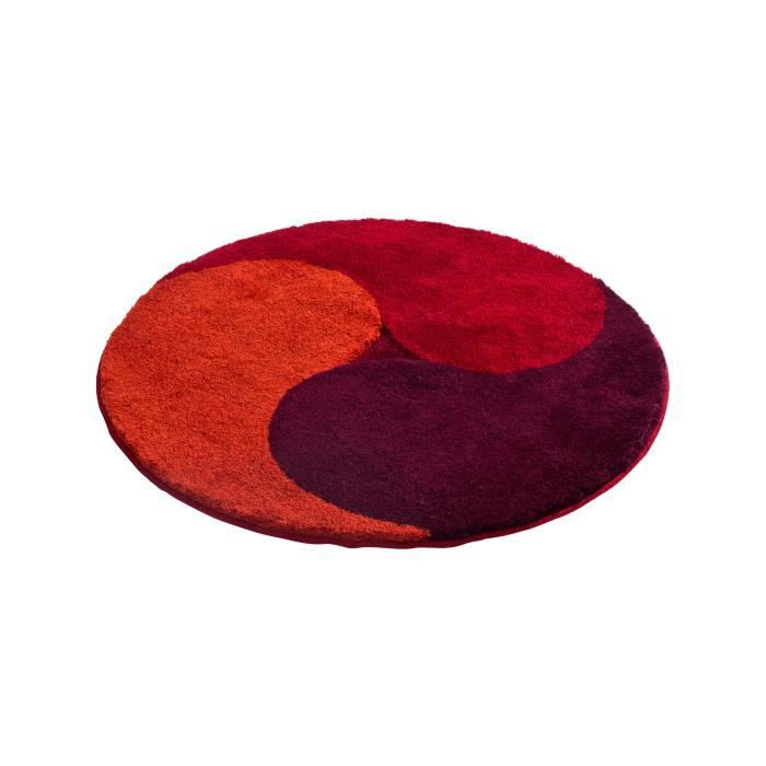 grund tapis de bain aum rouge 100 cm rond achat. Black Bedroom Furniture Sets. Home Design Ideas