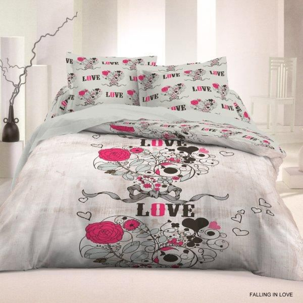housse de couette 220x240 falling in love 2 t achat. Black Bedroom Furniture Sets. Home Design Ideas