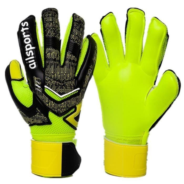 Wrzbest Gants de gardien de but professionnels pour enfants avec prise solide et protection des doigts
