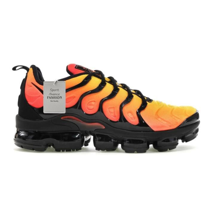 Baskets Air VaporMax Plus TN/VM Noir Orange Crimson 924453 ...