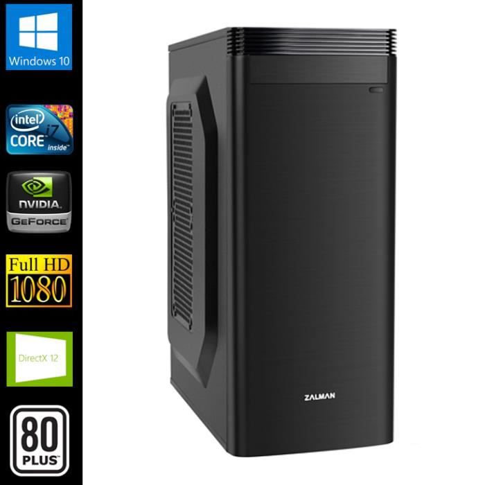 pc gamer intel i7 gt730 16go ram prix pas. Black Bedroom Furniture Sets. Home Design Ideas