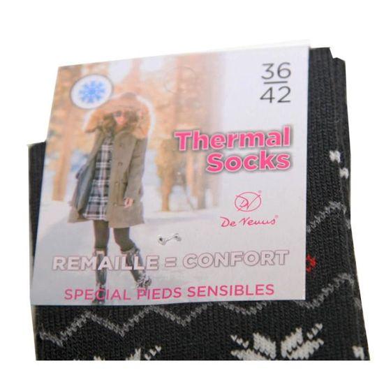 Lot 3 paire chaussette haute montante jambière imprimé femme thermal socks chaud
