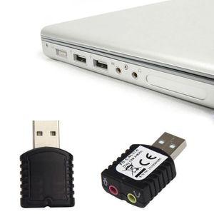 CARTE SON EXTERNE Adaptateur de carte son stéréo USB 2.0 Virtual Aud