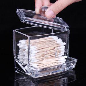 BOITE DE RANGEMENT boîte écouvillon de coton stockage cosmétiques maq