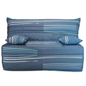 BZ canapé BZ bleu NAVARRE  L. 140 cm avec tiroir L 14
