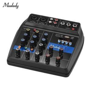 TABLE DE MIXAGE QQ Muslady S-1 Console De Mixage Bt Portable 4 Voi