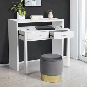 BUREAU  Bureau extensible bois blanc