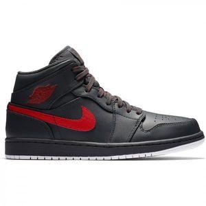 BASKET Chaussure de Basket Air Jordan 1 Mid Noir Anthraci