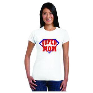 T-SHIRT T-shirt de femmes pour maman, super maman coton T-