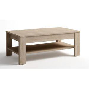 TABLE BASSE Table basse relevable chene, L 110 x P 60 x H 42 à