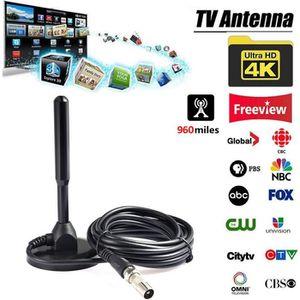 ANTENNE RATEAU Antenne TV Interieur HDTV Antennes Amplifiée  DVB-