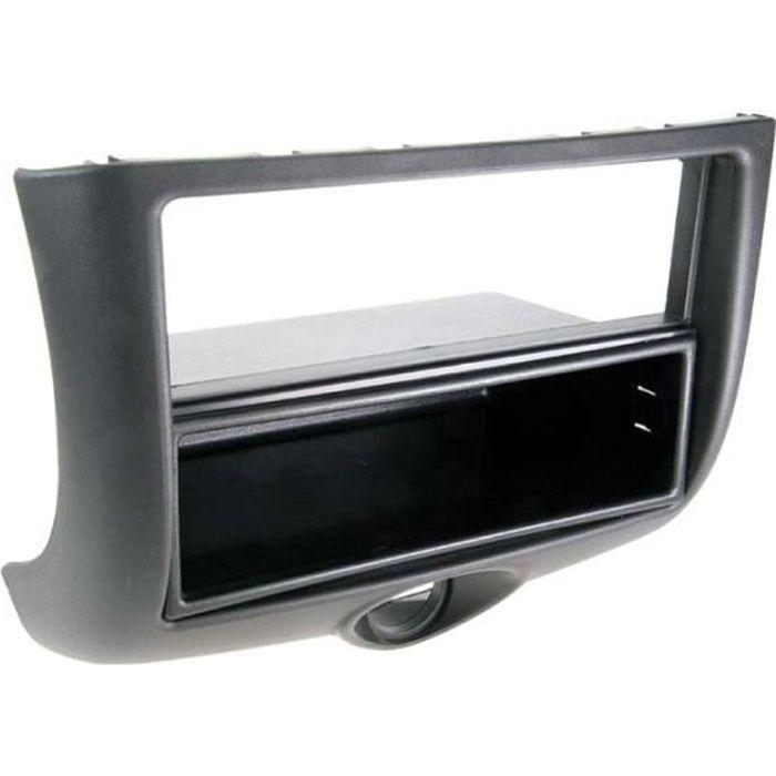 Adaptateur de façade 2-DIN avec vide poche Toyota Yaris 1999 > 2003 noir