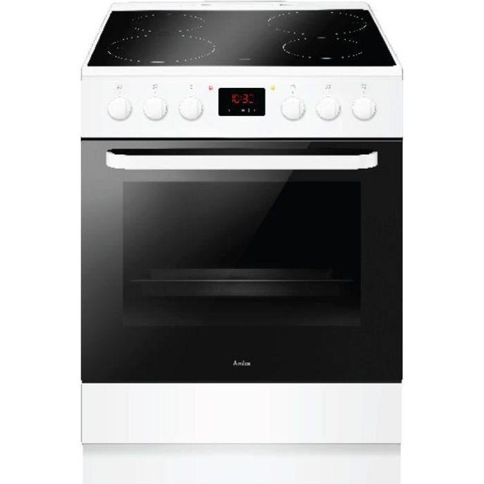 amica - cuisinière induction a 65l 4 feux blanc - aci3504b