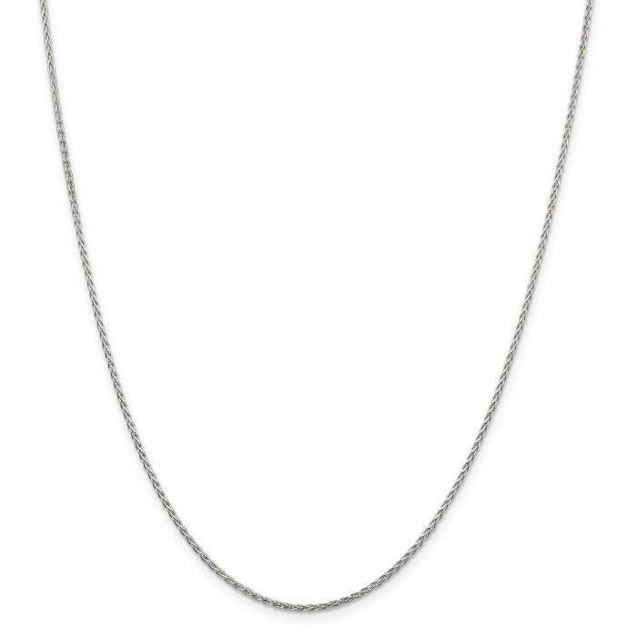 Chaine De Cou Vendue Seule Femmes Argent 925 1.5mm Spiga Chaîne  16 pouces blé haute joaillerie cadeau Saint-Valentin Da CVY5R