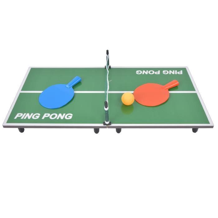 Mini tennis de table intérieur jeu de table pliant bureau de ping-pong jouet de divertissement parent-enfant-YUA