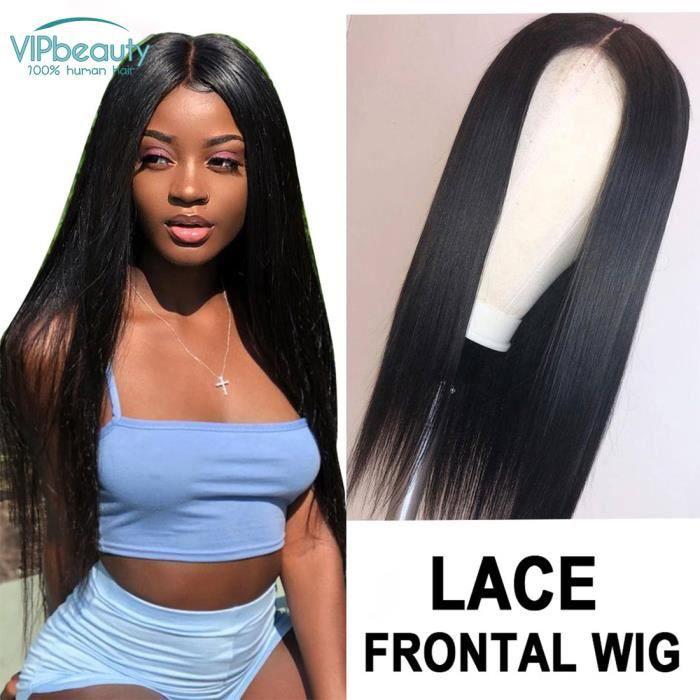 Cheveux Naturel Perruque lisse lace frontal Perruque Cheveux humain Lace Frontale 10 Pouces VIPbeauty Vierge 150% Densité