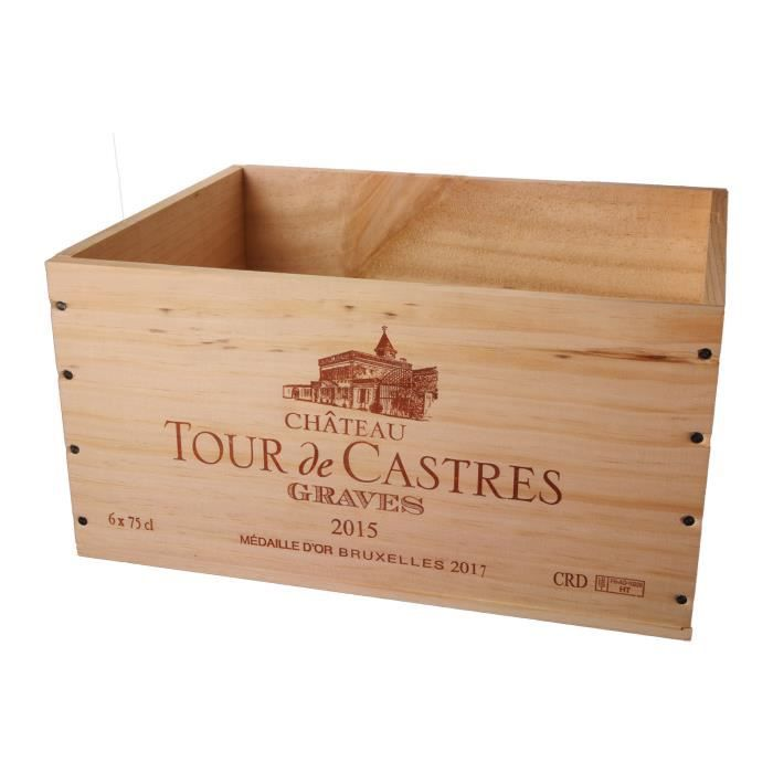 La Caisse Bois 6x75cl estampillé Tour de Castres - coffret
