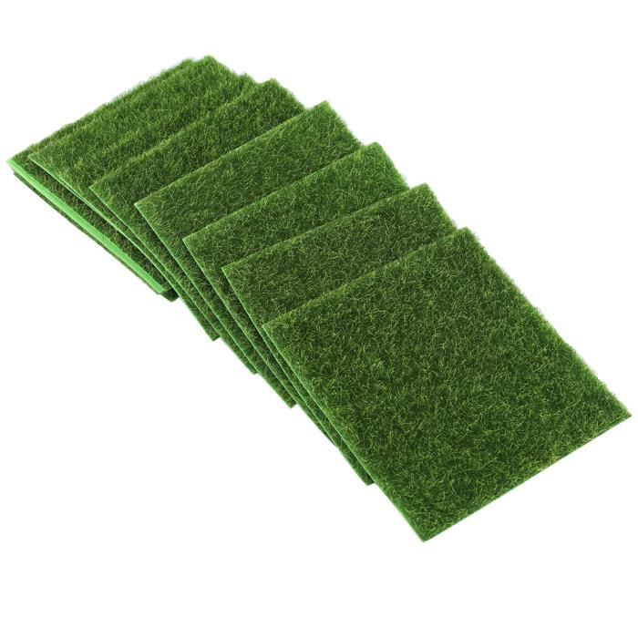10 PCS Tapis de gazon artificiel - Gazon synthétique - 15 x 15 cm-PRO