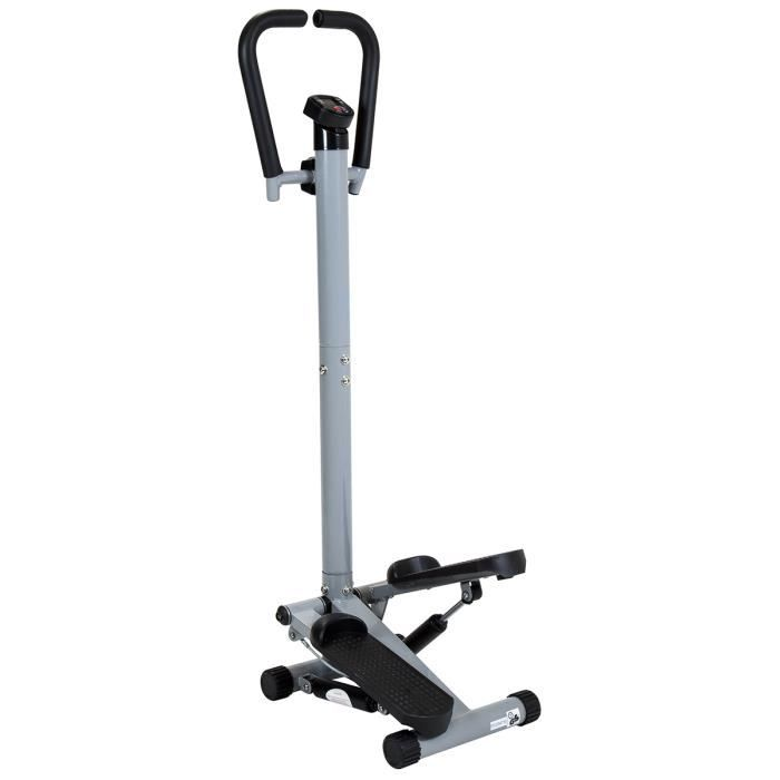 Charles Bentley Twist Fitness Stepper Avec Guidon Et Ecran LCD Jambes exercice Stepper machine Cuisse tonifiant