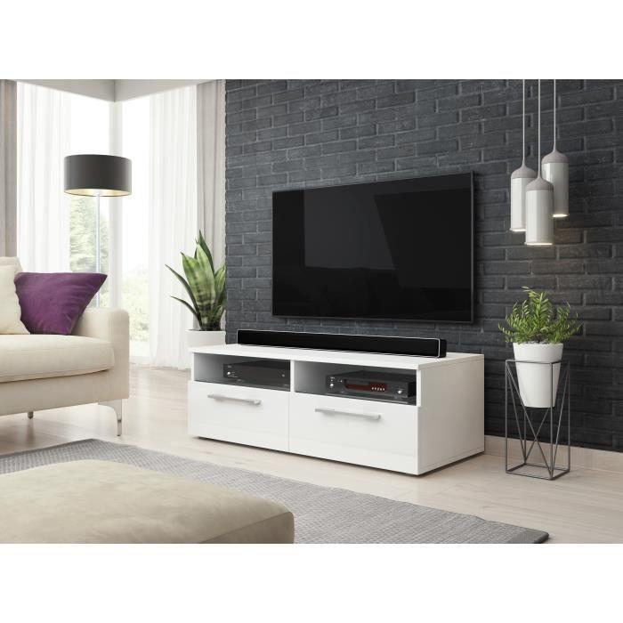 Classic Zumbi meuble TV blanc / blanc brillant 100cm