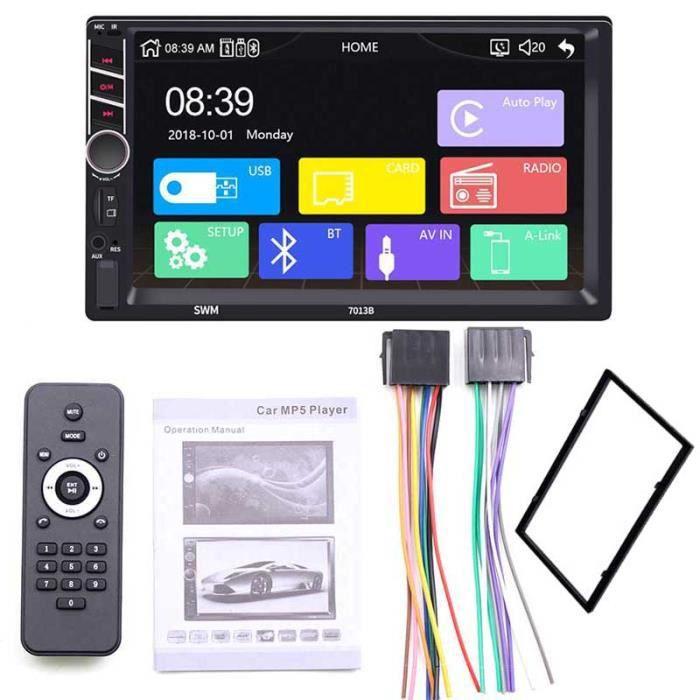Autoradio 2 Din Carplay Android Auto Bluetooth stéréo Audio vidéo lecteur MP5 mains libres USB 7- unité de - Type with frame