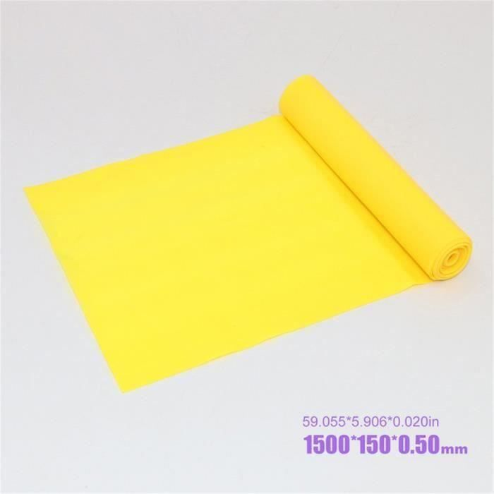 bande de tension yoga Tension Neutre TPE Elastic Force Training Stretch 1500*150*0.35 Jaune