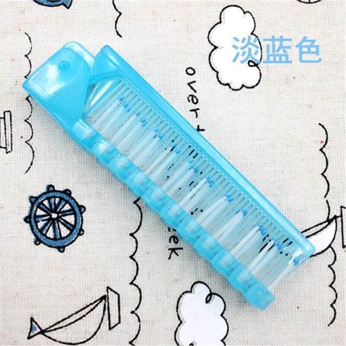 Brosse à cheveux jetable de voyage, peigne de Massage jetable, antistatique, outil de coiffure~Light Blue DY15182