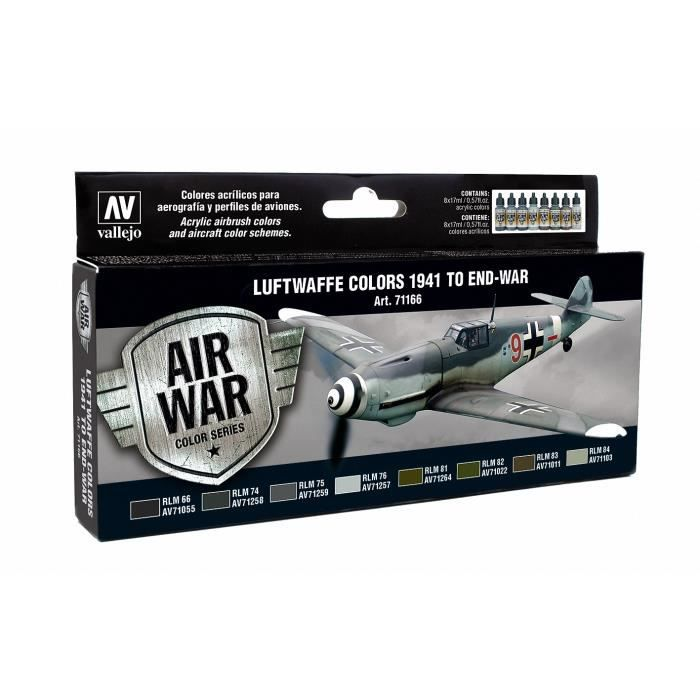 Vallejo Model Air Set - Luftwaffe Colors 1941 to end-war - (VAL71166)