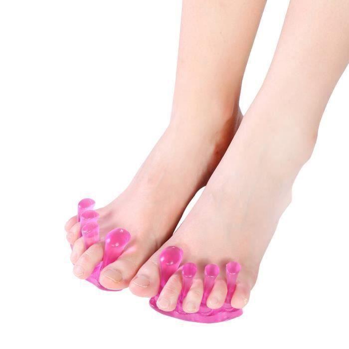 1 paire de séparateur d'orteils en Silicone redresseur doux Valgus correcteur doigt entretoise pieds outil de soin MKK27