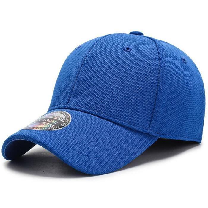 COKK Casquette de Baseball hommes casquettes casquettes hommes ajusté fermé Casquette complète femme Blue hat size 57-58cm