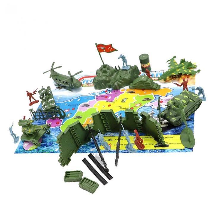 Set Base militaire Jouet militaire soldat Armyin un ultime conteneur de stockage Toy Set 1 Set (30pcs)
