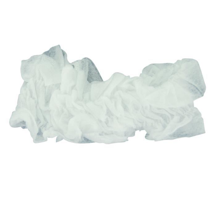 Bandeau et bonnet - Bandeau jetable blanc, x6 - Beautélive