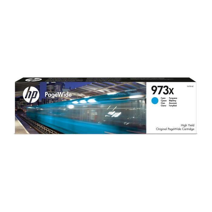 HP Cartouche d'encre 973X high yield - Cyan original PageWide cartridge