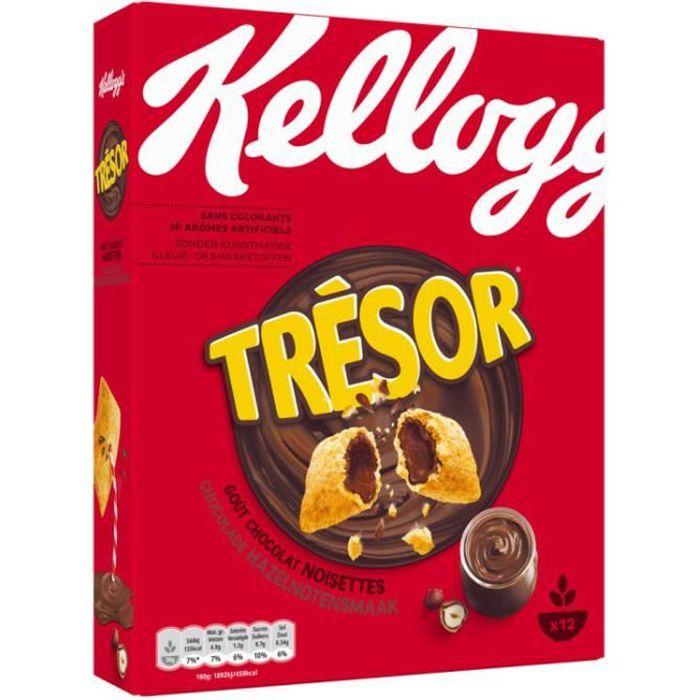 KELLOGG'S Trésor chocolat noisettes - 375 g