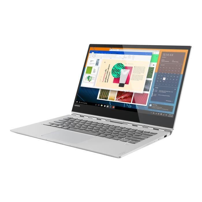 Lenovo Yoga 920 13Ikb 80Y7 Conception inclinable Core i5 8250U 1.6 Ghz Win 10 Familiale 64 bits 8 Go Ram 256 Go Ssd 13.9