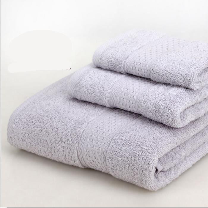 Ensemble de 3 serviettes de bain - 1 serviette de bain, 1 essuie-mains et 1 petite serviette